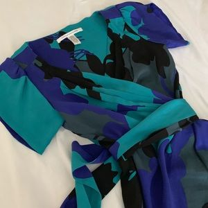 DVF Rizerette wrap blouse
